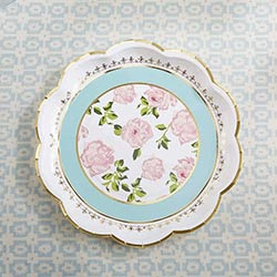 Tea Time Whimsy Paper Plates - Blue