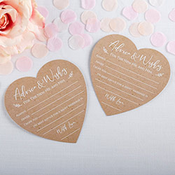 Wedding Advice Card - Heart Shape (Set of 50)