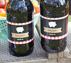 Personalized Water Bottle Labels - BBQ